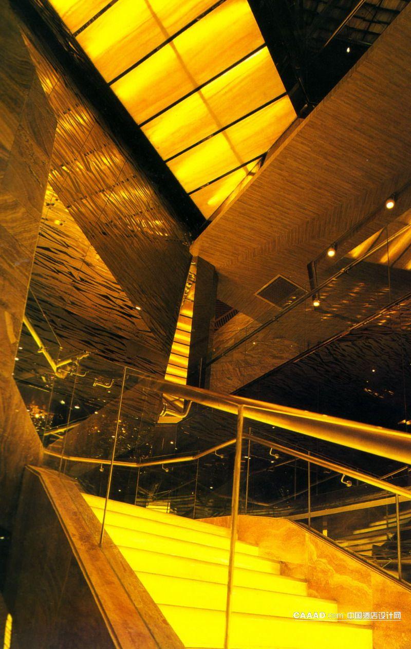 楼梯玻璃护栏灯带装修效果图欣赏图片