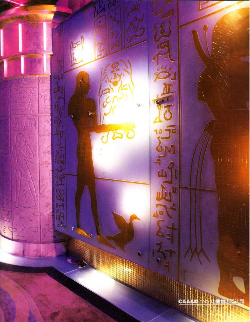 过道地毯雕刻造型柱子马赛克贴砖墙贴装饰墙效果图
