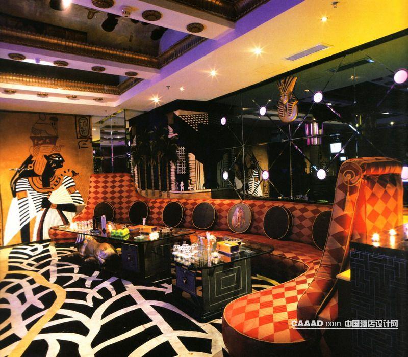 沙发狮身人面像雕塑玻璃桌桌子壁画壁饰装饰墙手绘图