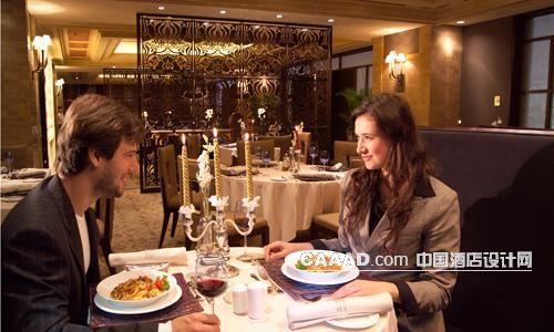 欧式西餐厅烛台壁灯射灯中式隔断效果图
