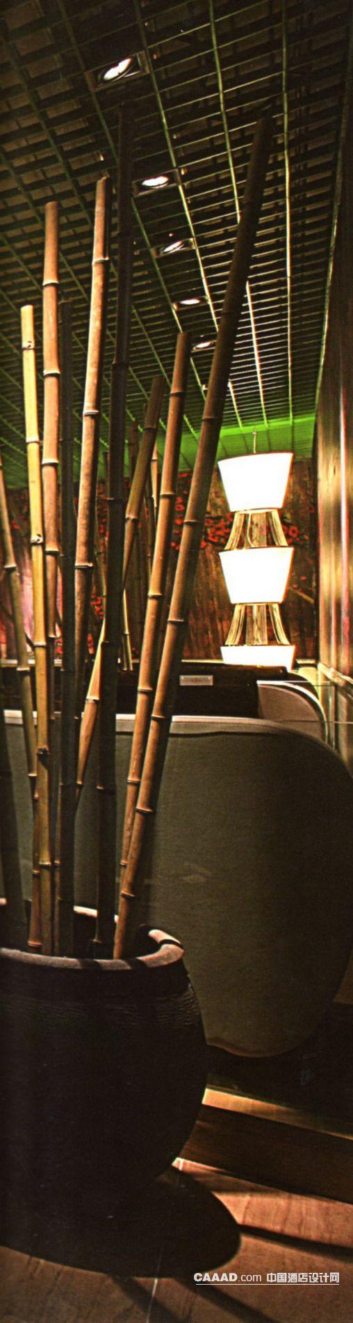 天花造型竹子陶缸