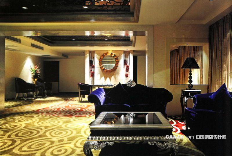 欧式新古典风格餐厅包房(一角)地毯欧式沙发欧式桌子