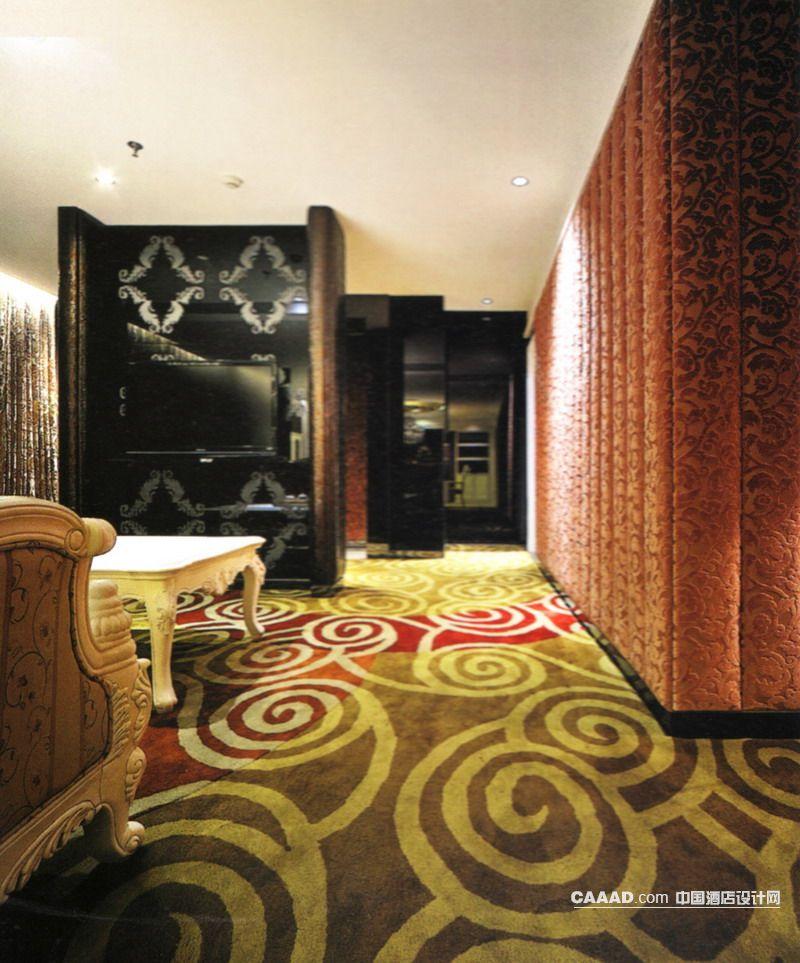欧式新古典风格餐厅包房(一角)地毯欧式椅子欧式桌子