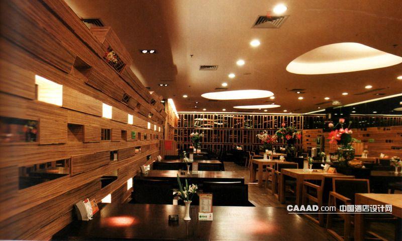 餐厅木质地板造型背景墙餐桌餐椅艺术玻璃