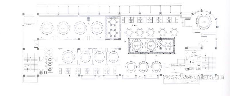 左邻右舍餐厅平面图效果图