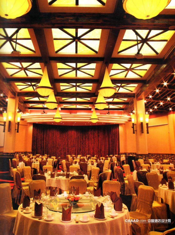 中式饭店大堂效果图_餐厅宴会厅造型天花板吊灯造型壁灯效果图_餐厅宴会厅造型 ...