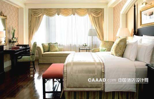 欧式咖色实木地板风格床榻窗纱窗帘沙发长条沙发