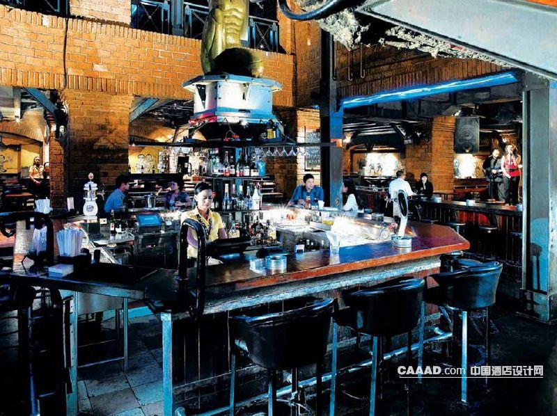 酒吧吧台吧椅酒架