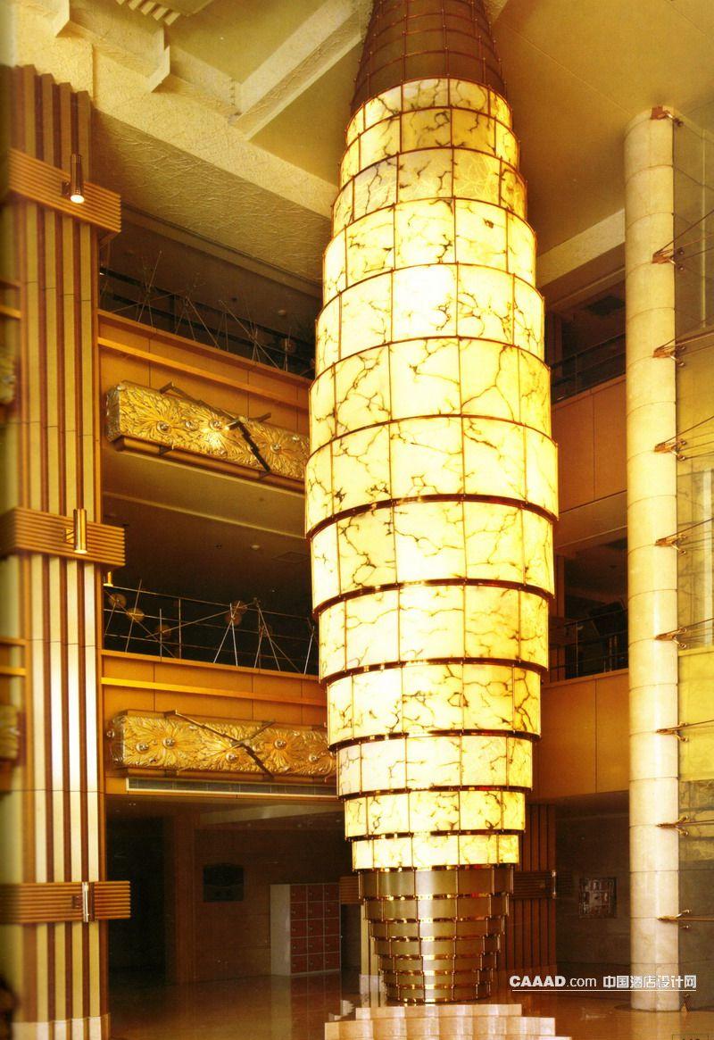 相关接待大厅立柱花纹壁纸装饰效果图欣赏图片