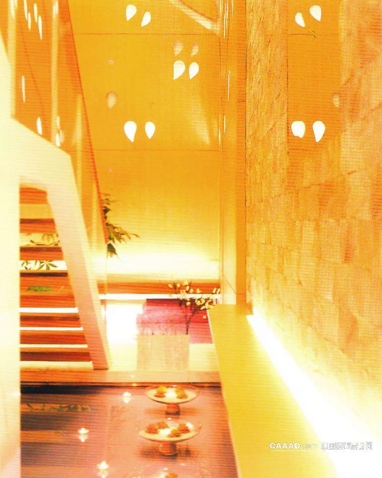 相关等候区楼梯木质墙面雕雕空装饰叶子效果图欣赏图片