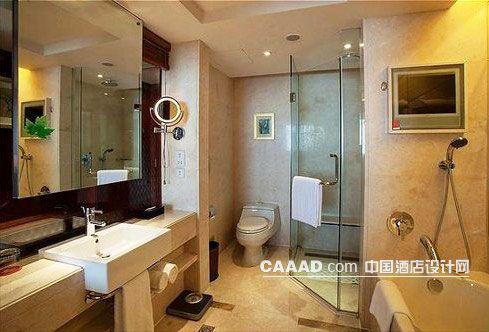 相关宾客浴室洗漱台镜子浴缸效果图欣赏图片