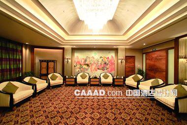 接見廳會客廳沙發茶幾地毯造型燈效果圖