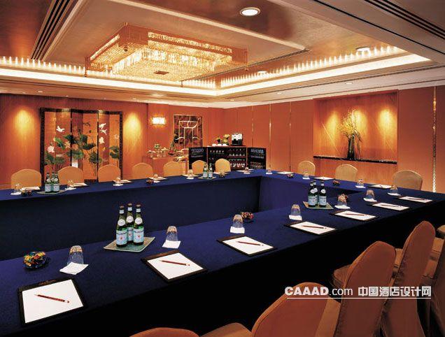 香格里拉 九龙/会议室天花造型灯屏风会议桌椅子