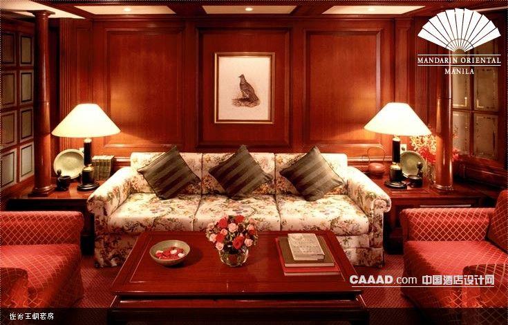 套房客厅沙发木桌台灯挂画效果图