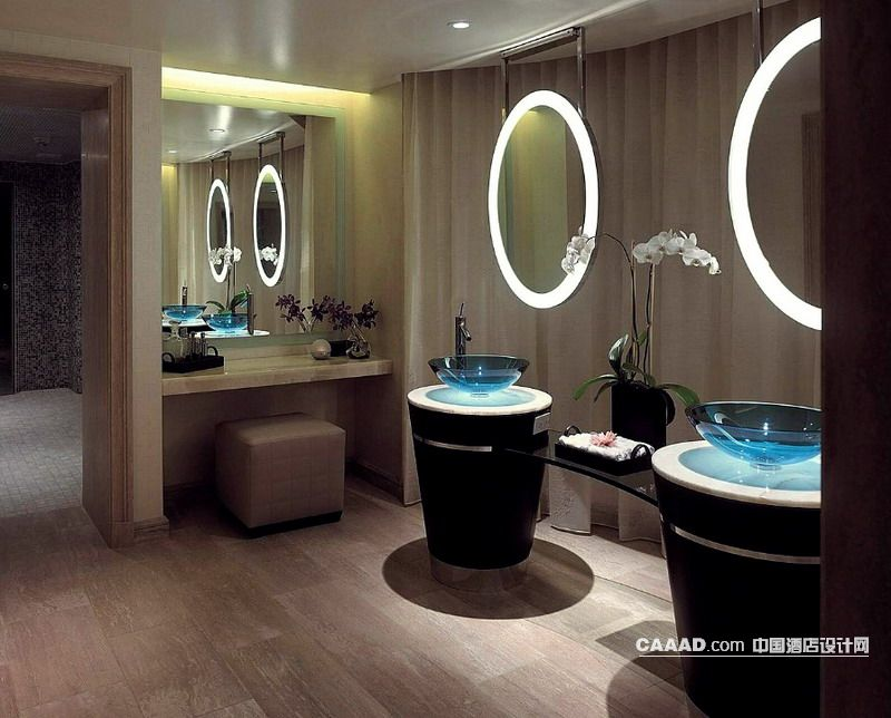 公共卫生间洗手台镜子装修效果图欣赏图片