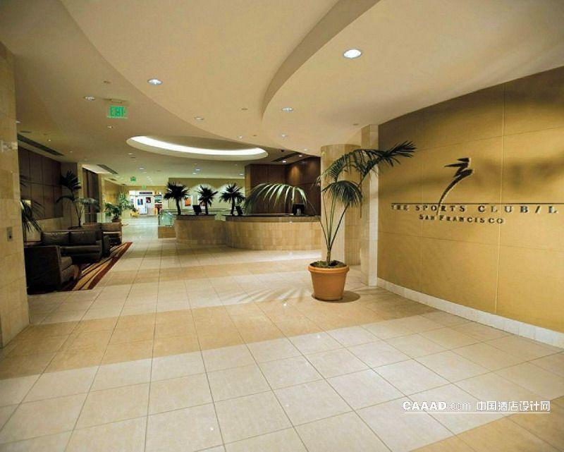 健身中心接待处服务台墙面装饰沙发装修效果图
