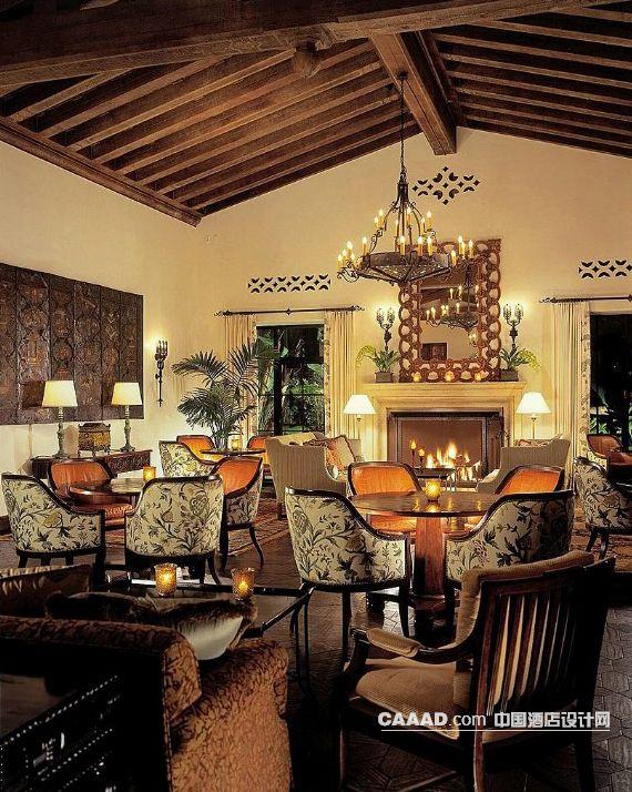 酒吧吧台吧椅酒柜墙 室外休闲区窗帘 壁炉沙发壁灯落地灯 spa瑜伽造型