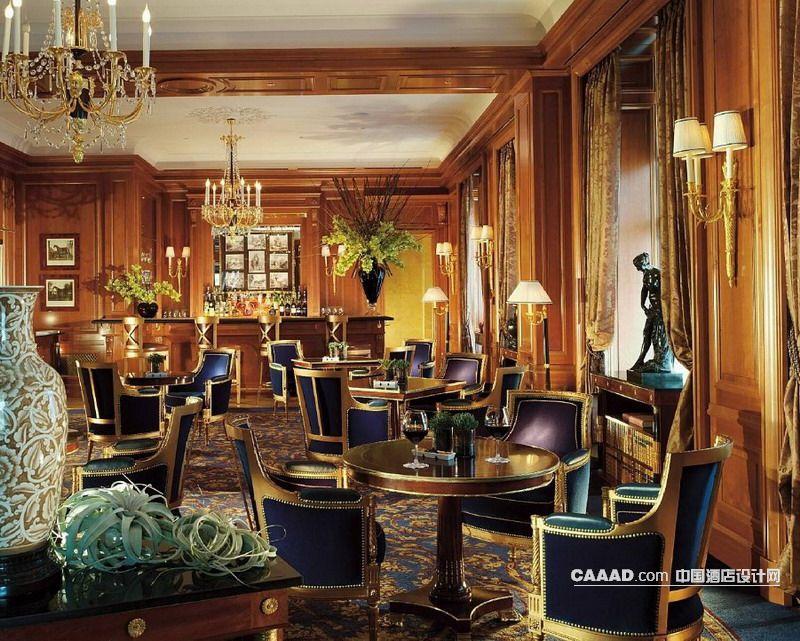 欧式风格酒吧吧台酒柜吊灯欧式椅子壁灯吧桌