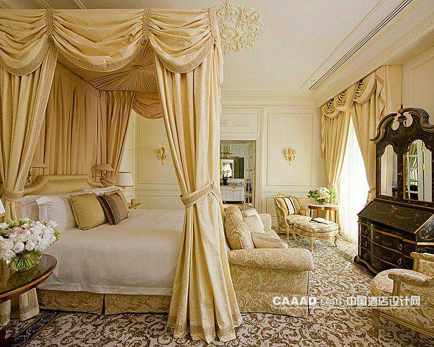 欧式风格套房卧室床地天沙发装饰柜窗帘效果图