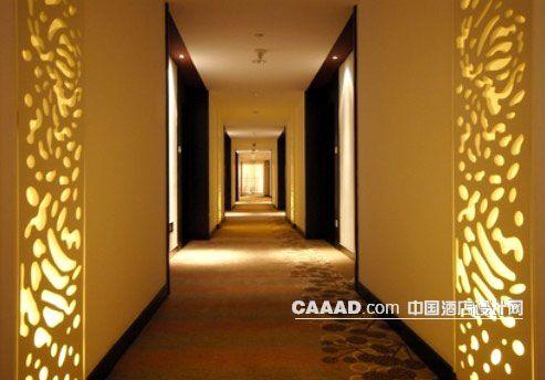 客房走廊通道镂空花纹效果图