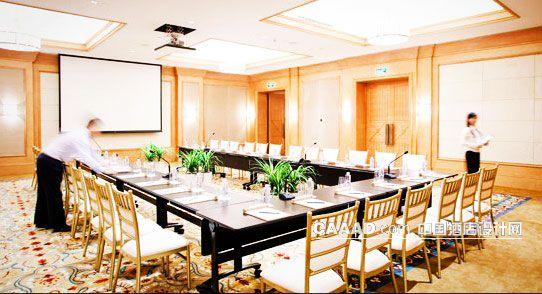 会议室桌子椅子植物地毯投影仪-中国酒店设计网
