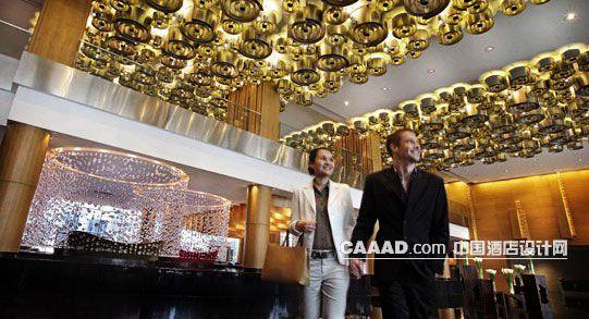 相关酒店大堂天花造型装饰灯柱子垂帘效果图欣赏图片图片