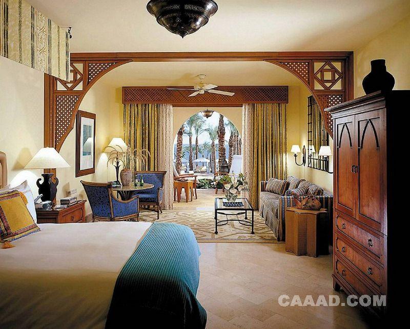 客房床造型吊灯欧式椅子吊顶风扇沙发台灯效果图
