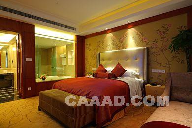 豪华套房床榻墙纸装修效果图欣赏图片