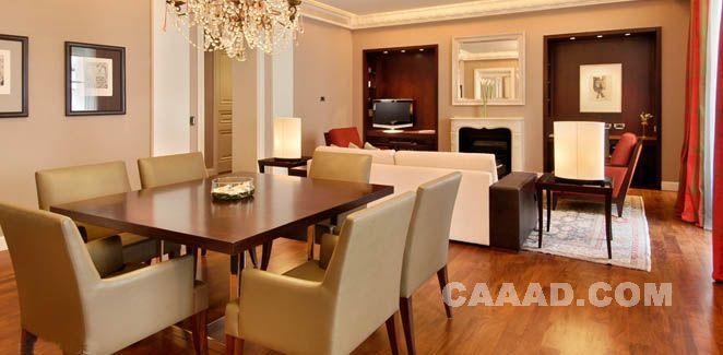 套房客厅沙发椅子桌子造型台灯木质地板