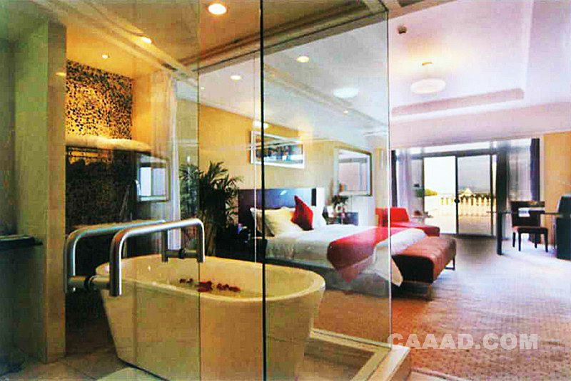 套房卧室浴室浴缸装修效果图欣赏图片