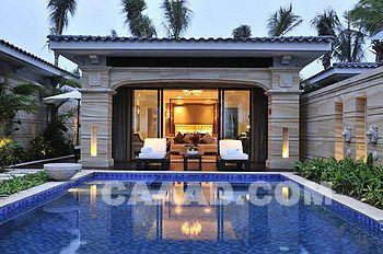三亚海棠湾康莱德酒店别墅外观私人别墅游泳池