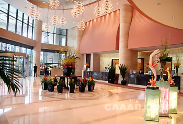 相关上海财大豪生大酒店—酒店大堂效果图欣赏图片