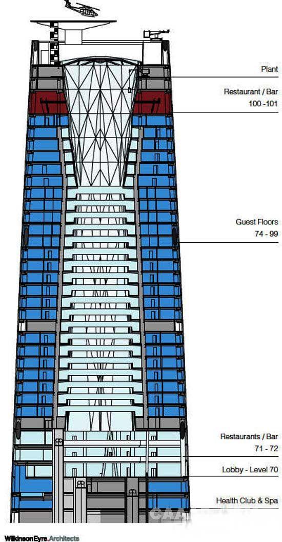 广州四季饭店-酒店平面设计图