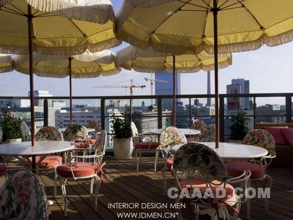 露天餐厅 遮阳伞装修效果图欣赏图片