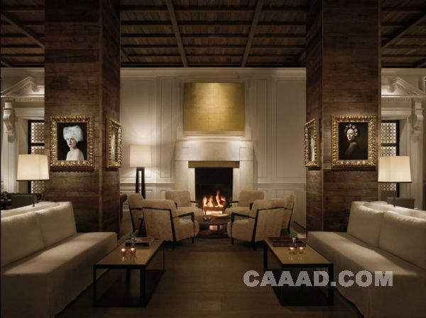 酒店总统套房会客厅 古典欧式