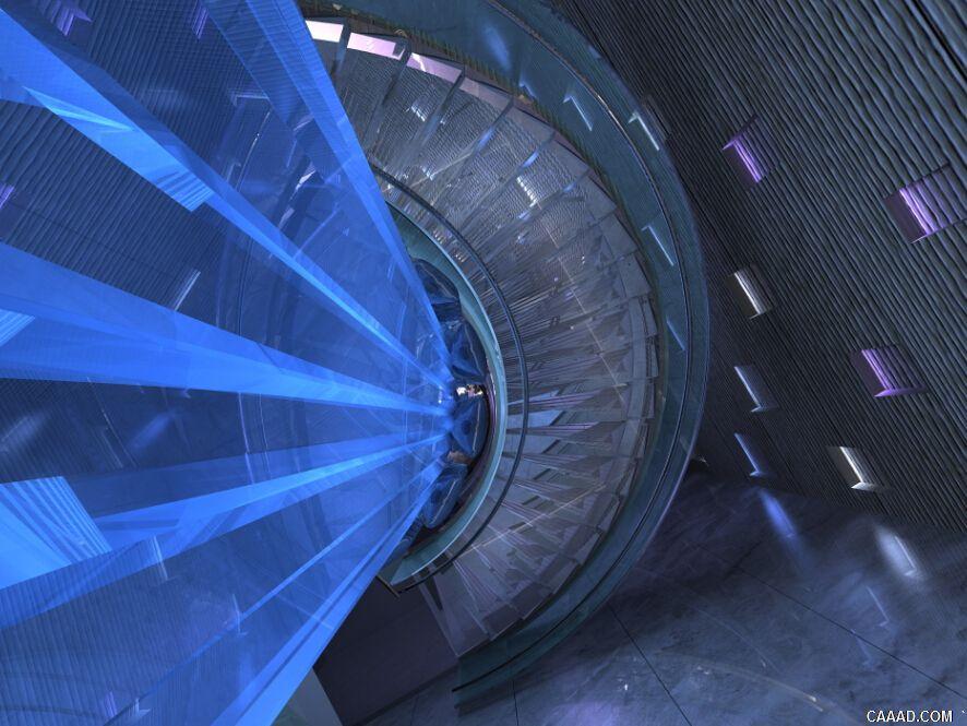 唐山勒泰城项目洗浴中心楼道