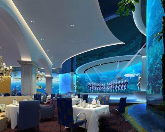 吕军设计作品:青岛海上嘉年华大酒店-海洋餐厅