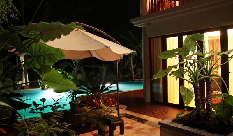 酒店别墅室外景观效果图