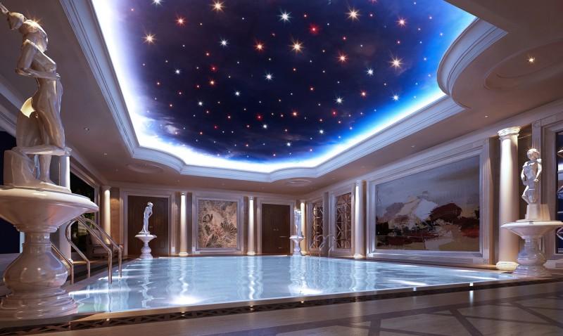 上海花园洋房别墅-室内游泳池效果图