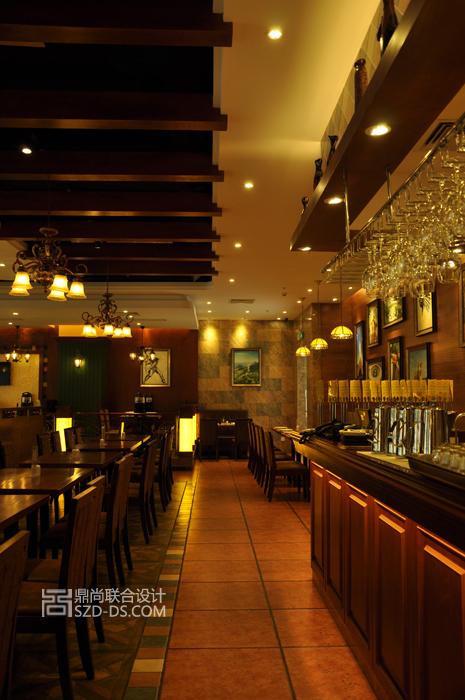烤肉西餐厅室内装修设计实景照片壹海城店效果图欣赏