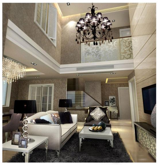 闫玉波设计作品:北京-loft-样板间-客厅