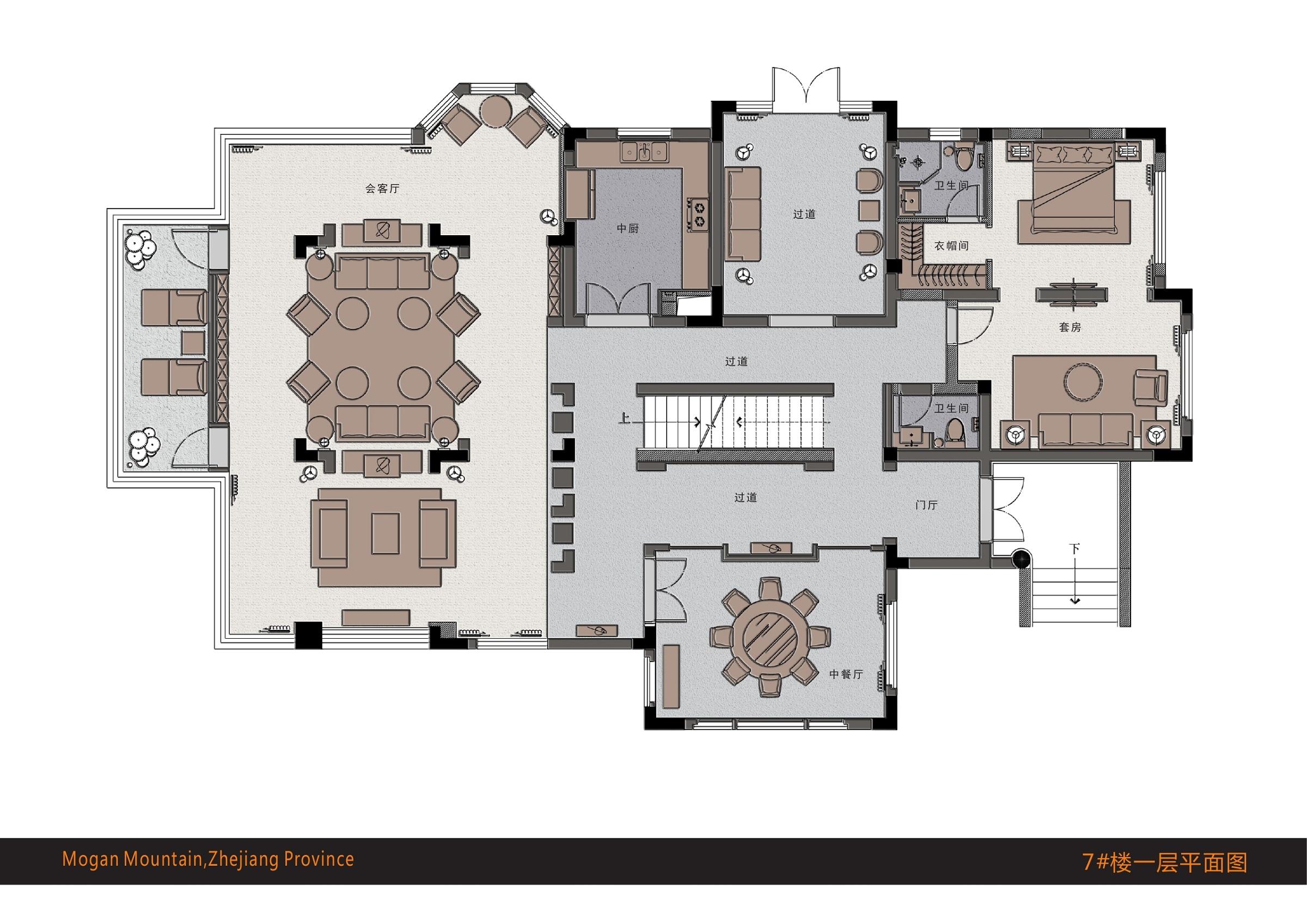 莫干山梦溪湖山庄74、4楼概念设计方案