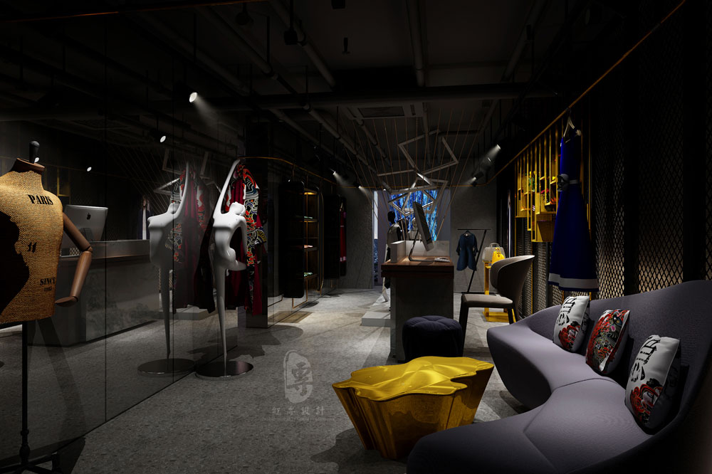 定制服装洽谈区 -大隐美宿城市精品酒店-红专设计