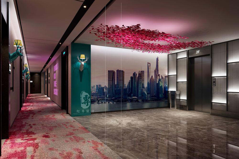 过道-一花一世界精品主题酒店-红专设计