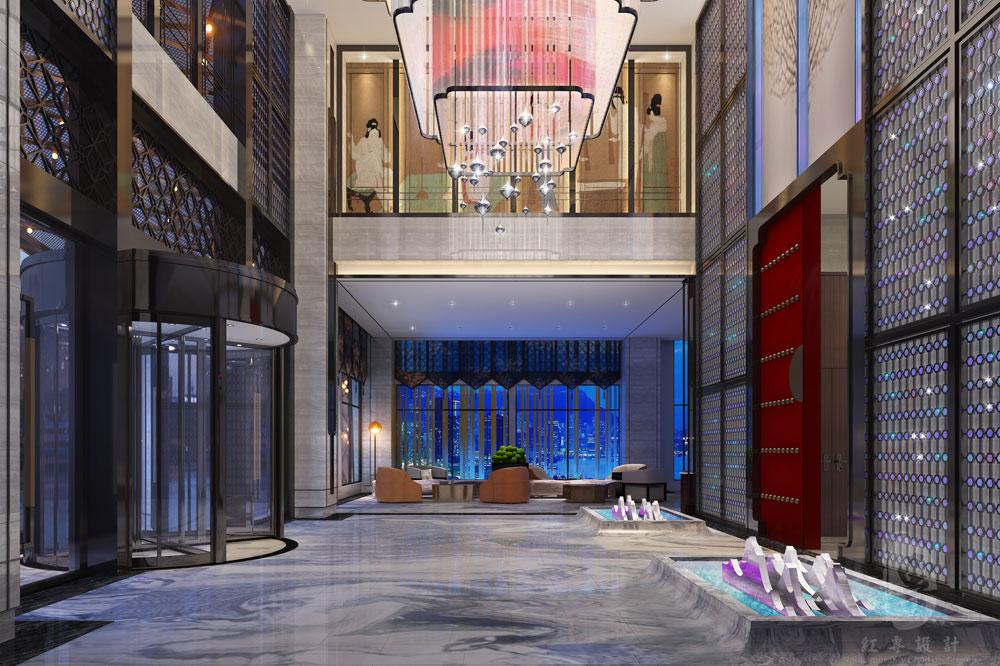 大堂-江安上沅国际酒店-红专设计