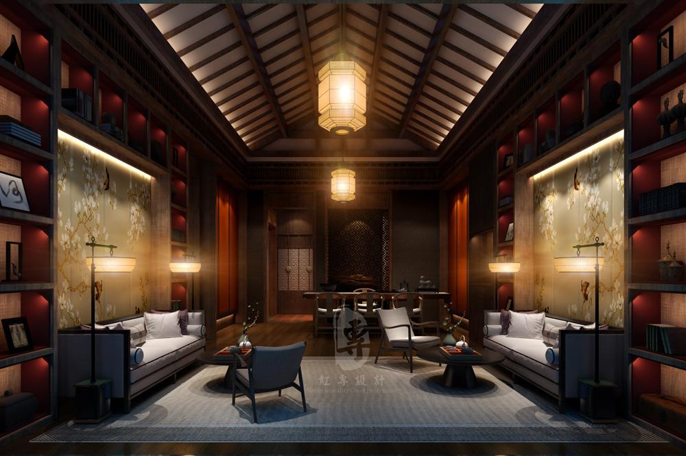 客房客厅-九黄湾国际温泉度假酒店-红专设计