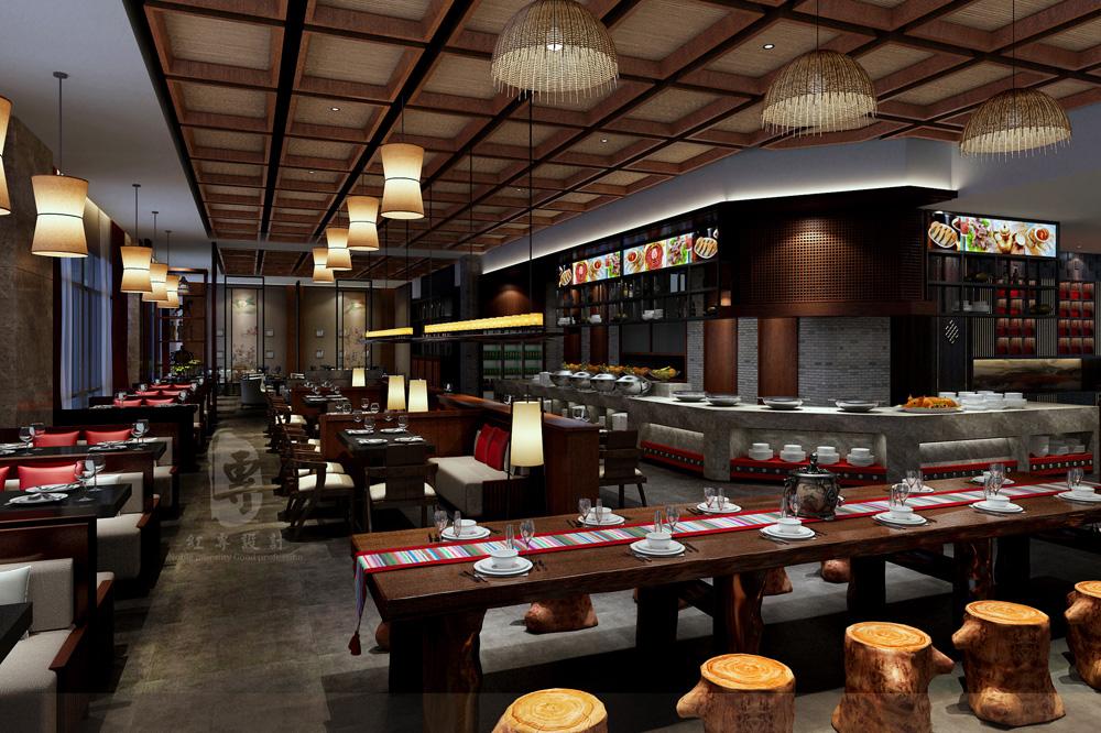 藏餐厅-九黄湾国际温泉度假酒店-红专设计