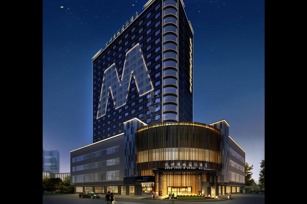 建筑外观-杭州漫纯国际酒店-红专设计