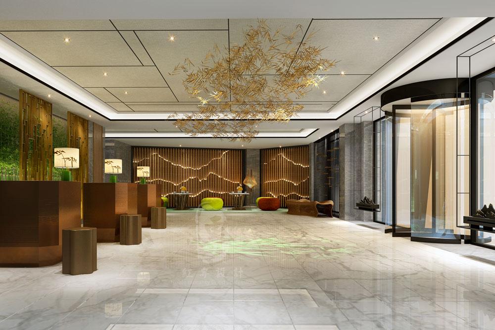大厅-竹子国际大酒店-红专设计