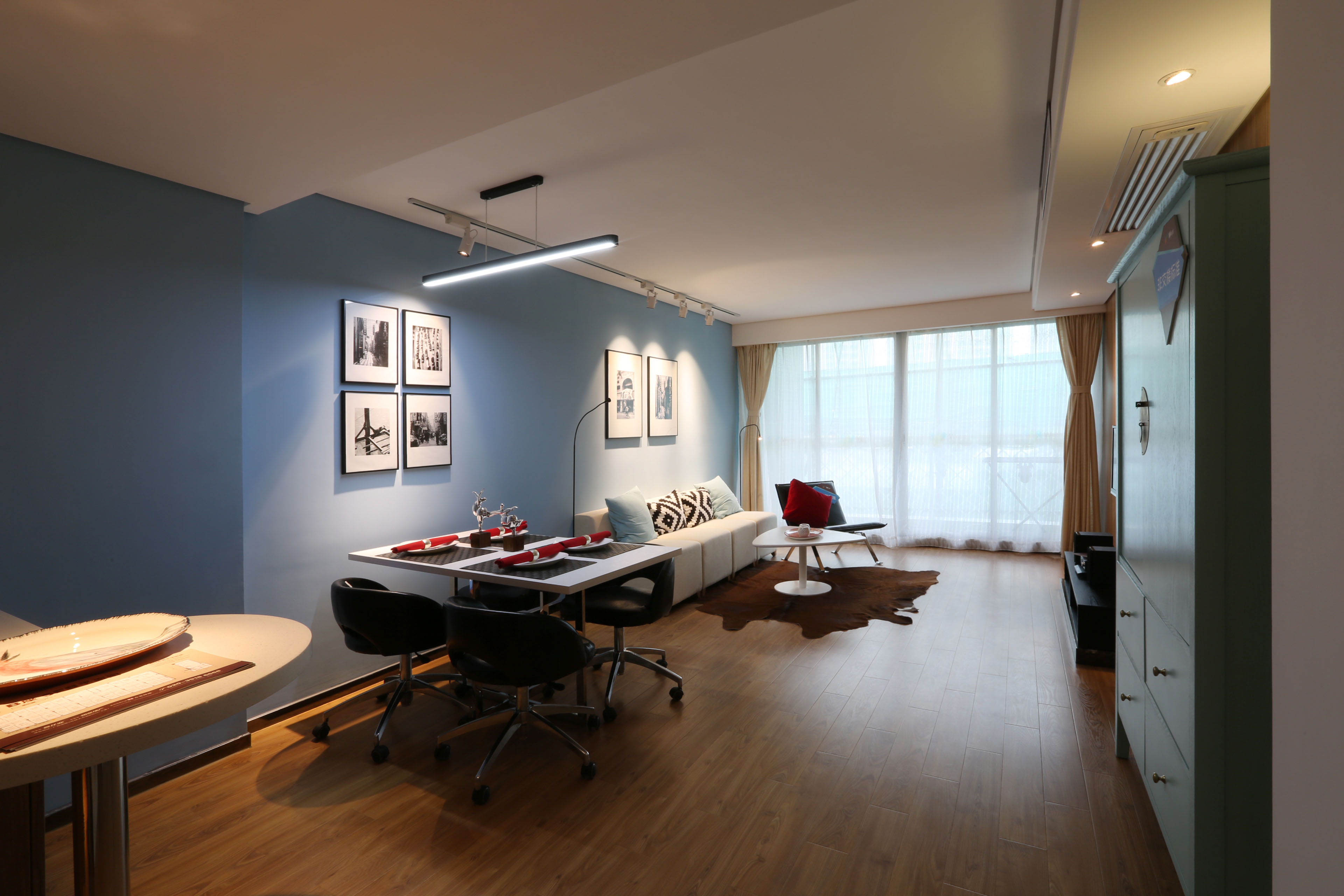 北欧风的loft公寓